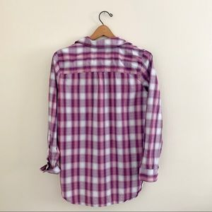 Madewell Tops - MADEWELL Pink Plaid Casual Button Down Top